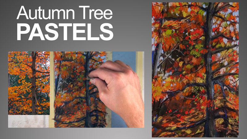 Pastel Lesson - Sketching an Autumn Tree