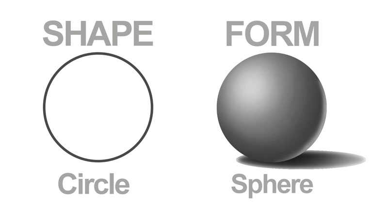 Transform shapes into forms