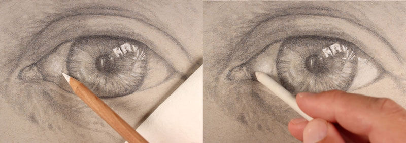 Adding highlights to the eye
