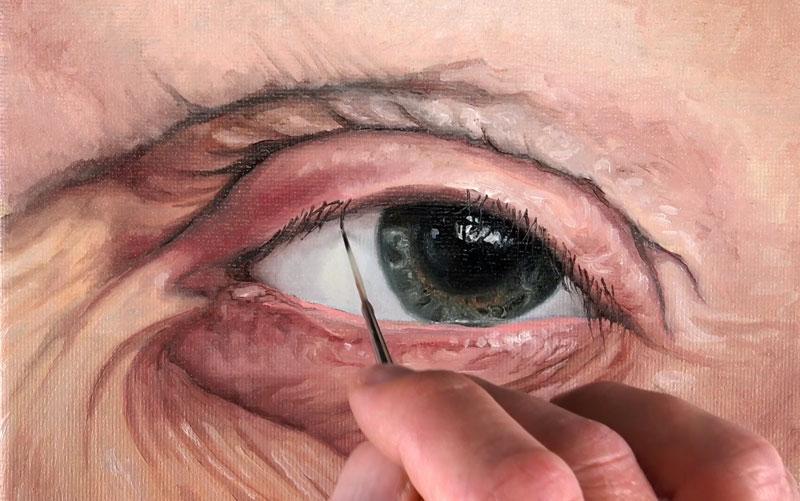 How to paint eyelashes