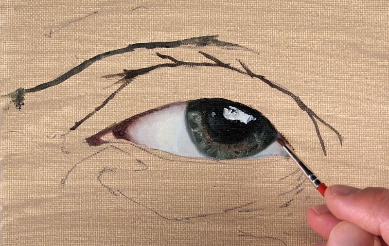 Adding shadow to the eye