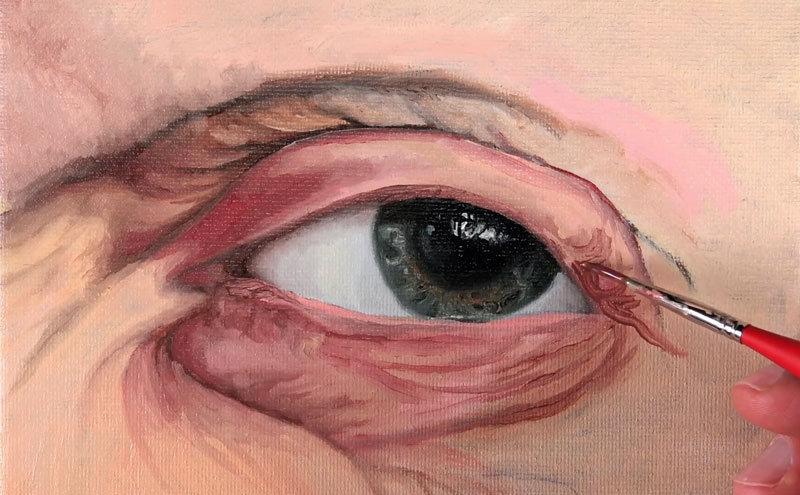 Painting wrinkles with oils