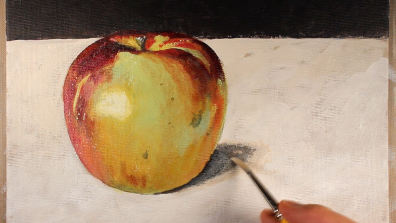 basic acrylic painting techniques how to paint an apple