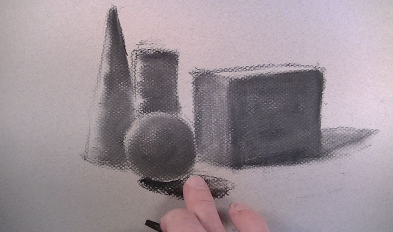 Drawing with vine charcoal