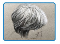 Draw Hair with Pencil