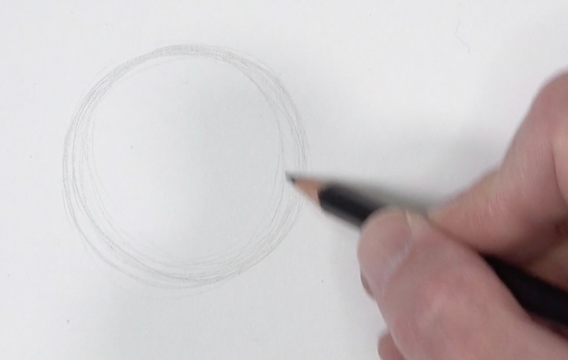 Drawing a circle with many lines