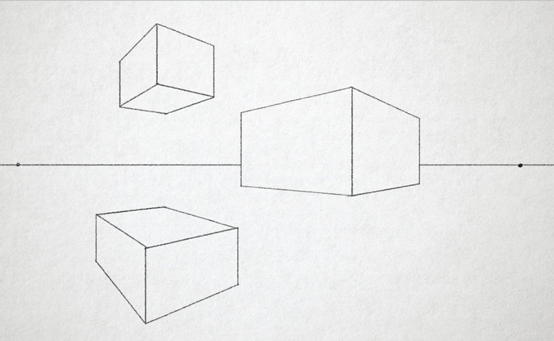 Drawing With No Lines : Two point perspective how to use linear