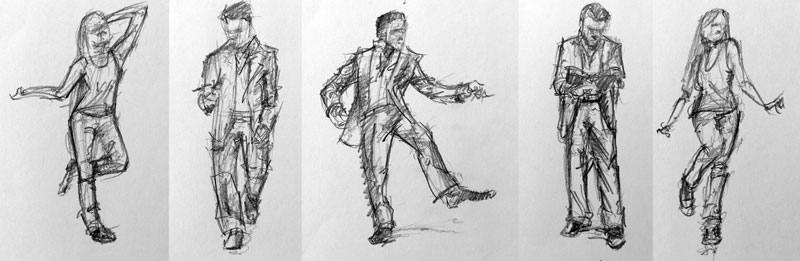 Gesture drawing examples