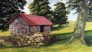 How to Paint a Landscape with Gouache