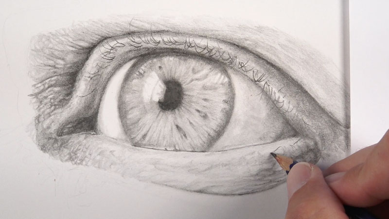Drawing eyelashes
