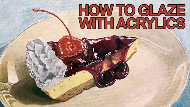 How to glaze with acrylic paints - indirect painting