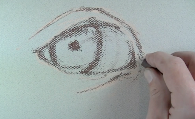 Paint an Eye Step 1 - Draw the contours