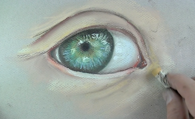 Additional skin tones are painted and blended into the surface