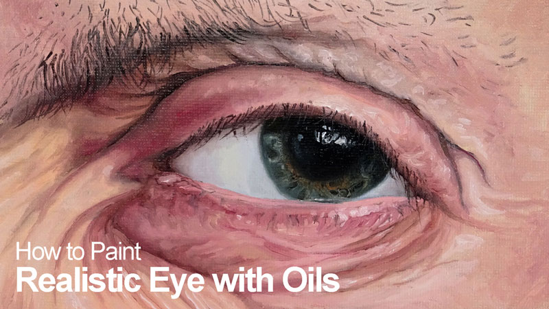 How to paint an eye with oils