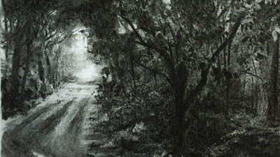 Landscape Drawing with Charcoal Lesson