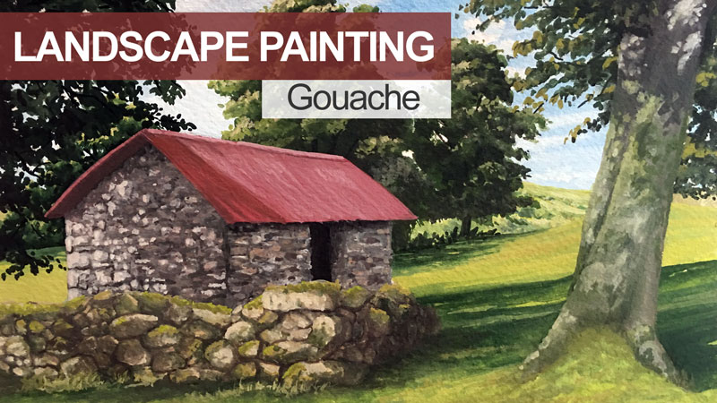 How to Paint a Landscape with Guoache