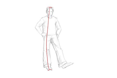 Wie man eine Person von Kopf bis Fuß zeichnet