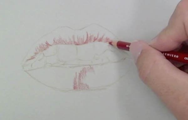 Realistic lips drawing easy