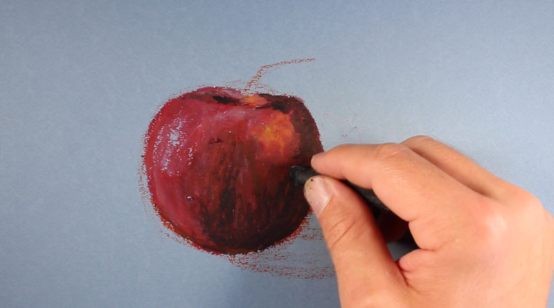 Oil Pastel Apple Step 4