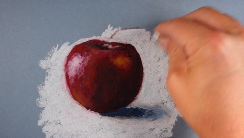 Oil Pastel Drawing Apple