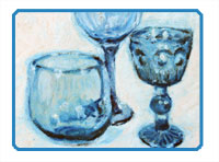 How to draw glass with oil pastel