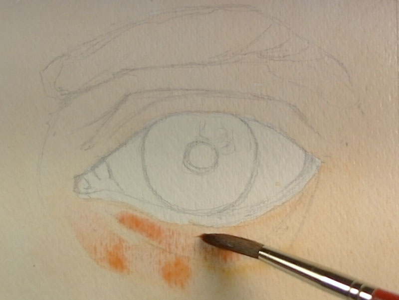 Light washes added around the eye