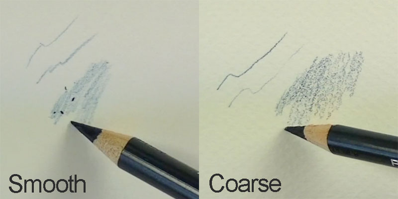 Colored pencil tip - consider the paper texture
