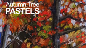 Pastel Sketch - Autumn Tree