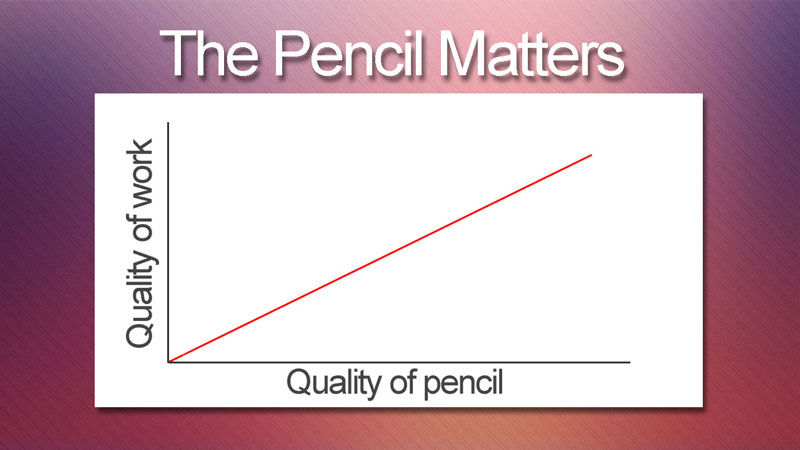 Colored pencil tip - use a quality pencils