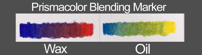 Colored pencils - blending marker