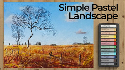 Simple Pastel Landscape Lesson