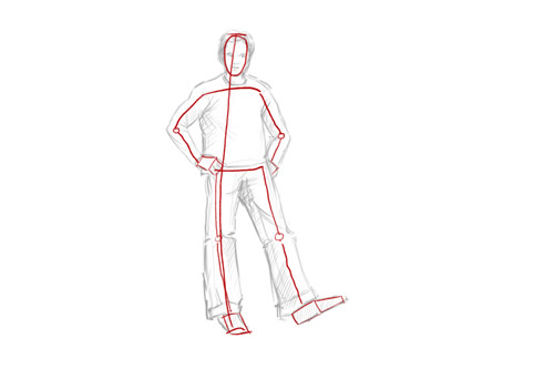 How to draw a person standing stick figure
