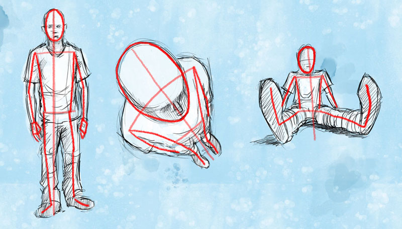 Drawing Lines With Core Graphics : How to draw a figure in perspective foreshortening