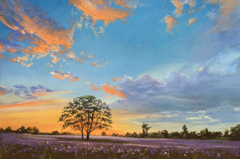 Pastel Sunset Painting by Lynn Quinn |Pastel Drawings Of Sunsets