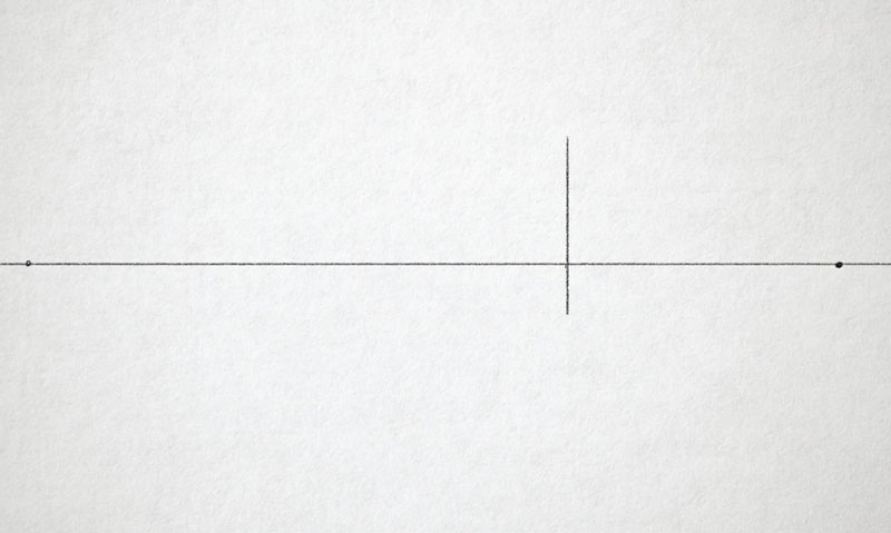 Draw the corner for two point perspective
