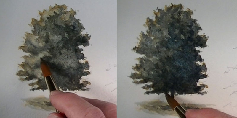 How to paint an oak tree details