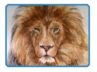 Colored Graphite Lion