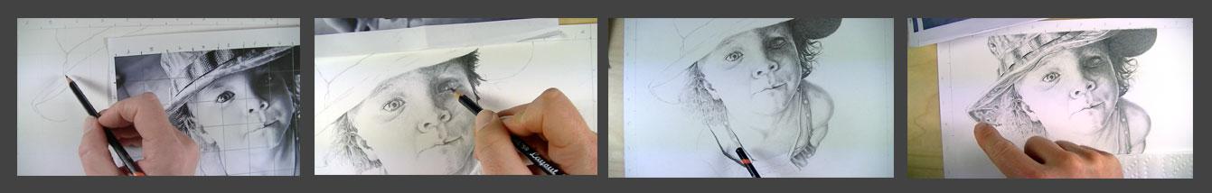 Graphite Portrait series