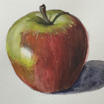 Gouache Apple