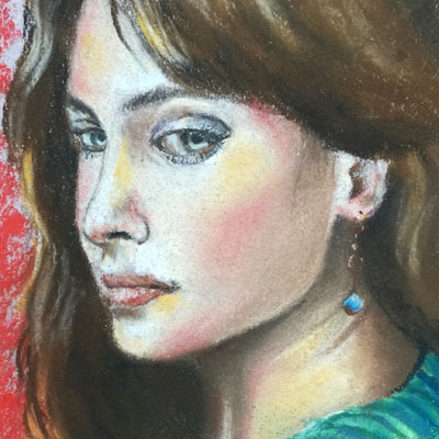 Pastel Portrait Sketch