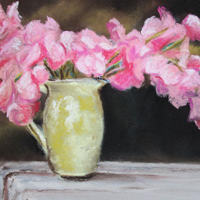 Pastel Sketch Flowers