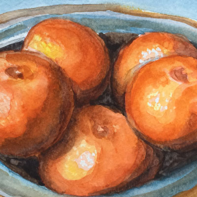 Watercolor Oranges