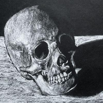 White Charcoal Skull