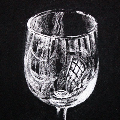 White Charcoal Glass
