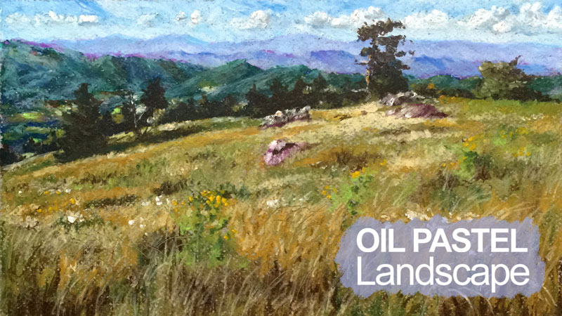 Oil Pastel Landscape Lesson Series