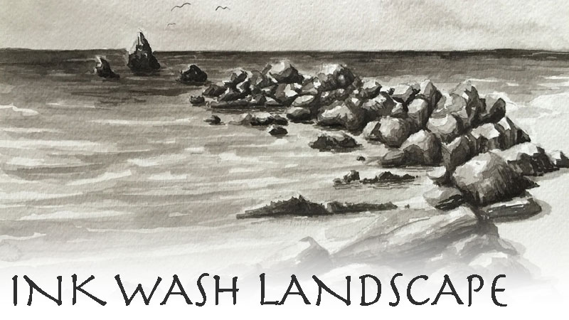 Ink Wash Landscape Live Lesson Series