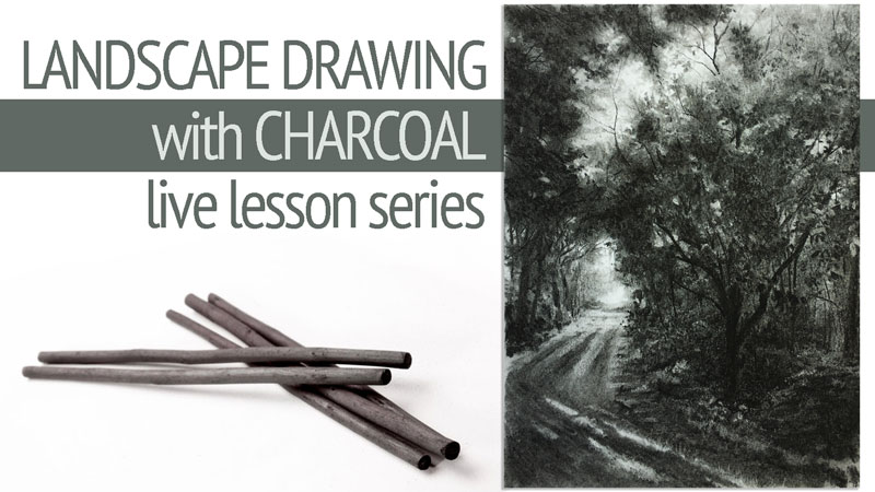 Charcoal Landscape Wooded - Lesson Series