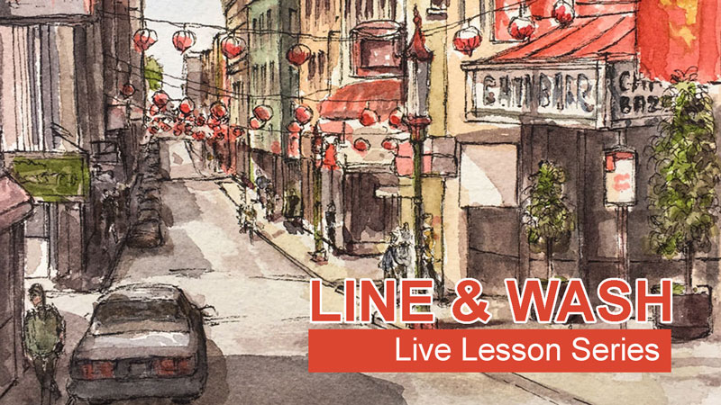Line and Wash Lesson Series