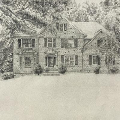 Graphite House Portrait Lesson
