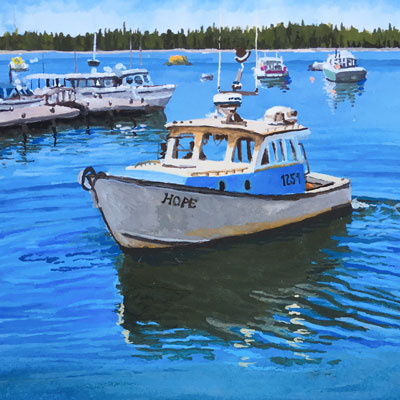 How to Paint Water with Gouache Series